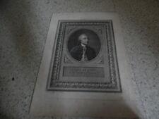 1785.Portrait du comte de Buffon.Gravure 33/46,5cm.Bounieu.Houdon.Hubert