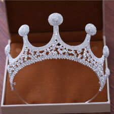 8cm High Lovely Full Crystal Large Tiara Crown Wedding Bridal Party Pageant Prom