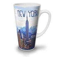New York NEW White Tea Coffee Latte Mug 12 17 oz | Wellcoda