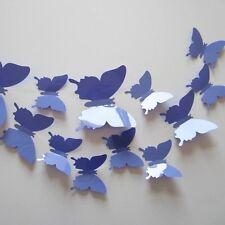 3D Mariposa Arte para Decoración de PVC Mariposas Mural Pegatinas De Pared De 12 piezas