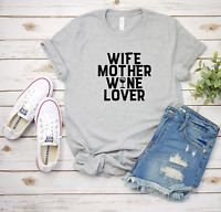 Wife Mom Wine Bella Canvas Graphic Tee Shirt Ladies T-Shirt Women Unisex Shirt