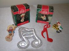 Lot of 4 Hallmark Keepsake HARK! It's Herald FELIZ Navidad Mouse w Musical Instr