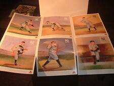 1989 Citgo New York Yankees 6 Hall of Famers Color Prints