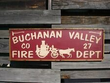 """PERSONALIZED FIRE DEPARTMENT STATION NAME RUSTIC VINTAGE DECOR WOOD SIGN 36""""x12"""""""
