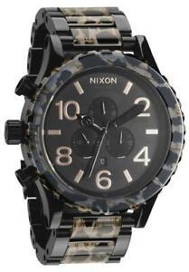 Nixon 51-30 Chronograph All Black Leopard A0831153 Mens Watch 5130