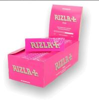 Cartine Rizla Rosa Pink Regolar Corte Standard SCATOLA BOX DA 25 / 50 Libretti