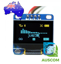 "OLED Display 0.96"" 128x64 Yellow Blue I2C IIC SSD1306 Arduino Raspberry Pi"
