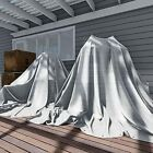 12 x 12 Feet Heavy Duty 10 Mil White Cover Tent Shelter Camping Tarpaulin Multi