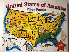 Melissa & Doug 48 Piece Jumbo Floor Puzzle United States of America 2' x 3'