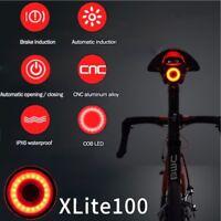 XLite100 Bicyclette imperméable intelligente l'eau lumière frein LED arrière feu