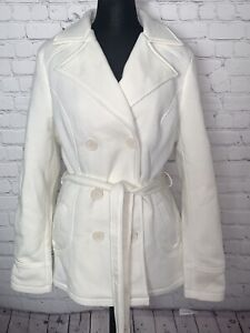 NWT J2 by JOUJOU Junior Pea Coat Double Breasted Jacket Size XL Off White