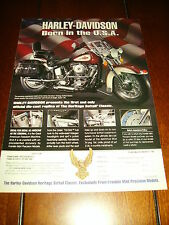 HARLEY DAVIDSON HERITAGE SOFTTAIL CLASSIC  FRANKLIN MINT AD  ***ORIGINAL AD***