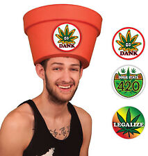 Simple Halloween Costumes for Men Legalize Marijuana Pot Head Hat Combo