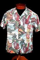 Rare Collectible 1939-Early 1940'S Silky Rayon Photo Hawaiian Shirt
