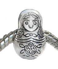 Russian Doll Russia Trip Travel Toy Alaska Charm Gift for European Bead Bracelet