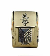 Large Attack on Titan Backpack Canvas Rucksack Anime cosplay Dual Wings Freedom