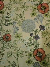"""Wild Floral Jersey Polyester Stretch Fabric Clothing Upholstery 60"""" Beige"""