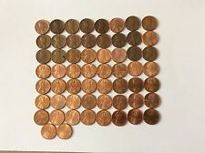 USA Très beau lot de 58 pièces de One Cent série complète de 1959 à 2016