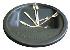 More details for magnetic cutlery saver black round bin's lid spoon fork saver | restaurant