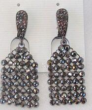 ELEGANTE Orecchini a clip Nero strass cristalli,cerimonia ,donna,idea regalo