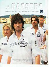Publicité Advertising 109  2007  chemises Voiles de Saint- Tropez par Gaastra