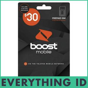 AUSTRALIAN BOOST $30 PREPAID MULTI FIT SIM CARD PACK 3G 4G LTE NORMAL NANO MICRO