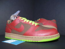 2005 NIKE DUNK LOW 1 PIECE LASER ONE IK RED CHARTREUSE GREEN GREY 311611-661 12