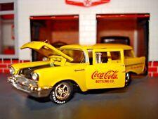 1957 CHEVROLET 2 DOOR WAGON LIMITED EDITION 1/64 COCA-COLA CUSTOM DELIVERY VAN