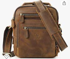 RingSun Mens Bag Leather Messenger Bag