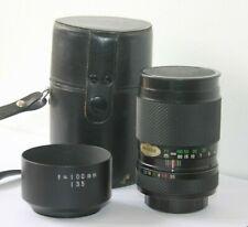 Fuji EBC Fujinon .T  135mm f3.5 Telephoto Lens Pentax M42 Screw Mount  Lens