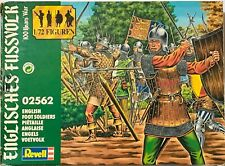 VINTAGE REVELL 02562 ENGLISH FOOT SOLDIERS MEDIEVAL PLASTIC FIGURES 1:72 BOXED