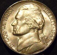 1945-P Jefferson Nickel Choice/Gem BU Uncirculated