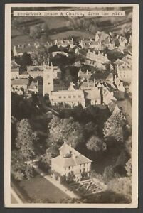 Postcard Woodstock near Kidlington Oxfordshire aerial view House posted 1926 RP
