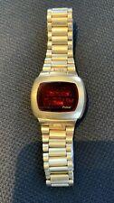 Vintage 1970s Pulsar LED Gold Filled Watch W/ Original Band