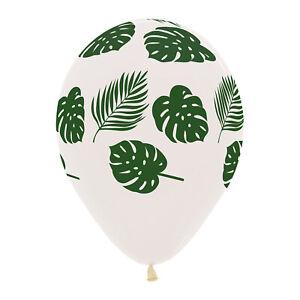 10 x Tropical Palm Leaf Balloons Helium or air Luau Hawaiian Party Decoration WH