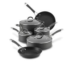 New Circulon Radiance Hard Anodized Nonstick Cookware Pots Pans 10 Pc Set, Gray