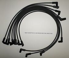 CHEVY CORVETTE 1984 5.7L 350 CROSS-FIRE FUEL INJECTION BLACK Spark Plug Wires!