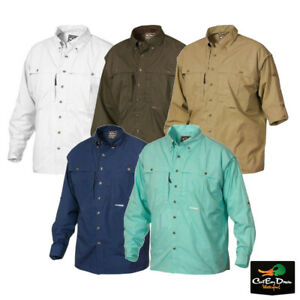 DRAKE WATERFOWL COTTON WINGSHOOTERS SHIRT WITH STAY COOL FABRIC LONG SLEEVE