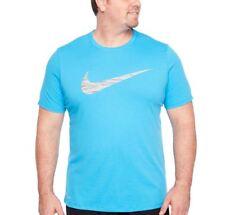1ec4b050 Mens Big and Tall Nike Swoosh Dri-fit Size 3xlt Blue Athletic Cut Tee Shirt