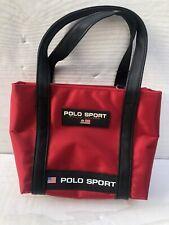Vintage 90's Ralph Lauren Polo Sport Mini Rubber Mini Satchel~Red & Black