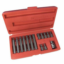 """LOOK"" Brand New 15pc TORX TORQUE/STAR BIT SET, CR-V STEEL MOULDED CASE UK STOCK"