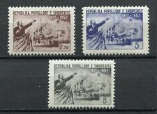 26893) ALBANIA 1957 MNH** Russian october revolution 3v Lenin & Cruiser Aurora