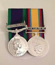 Court Mounted Full Size Medals, GSM Northern Ireland & Gulf War Iraq Op Granby