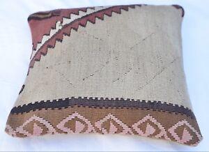 Türkisches Kelim Kissen, Square Cushion 16''x 16''