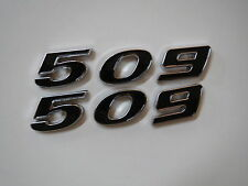 CHEVROLET 509 STROKER ENGINE ID FENDER HOOD SCOOP QUARTER TRUNK EMBLEMS - BLACK