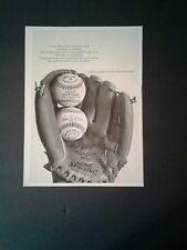 1967 Spalding Baseball Glove Carl Yastrzemski Model Colt Leauge Ball  Print Ad