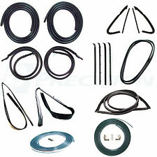 81-85 Chevy Truck Complete Kit Door Gaskets Chrome Glass Tri Weatherstrip Seals