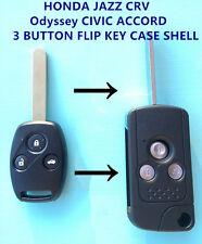 HONDA JAZZ CRV Odyssey CIVIC ACCORD 3 BUTTON FLIP KEY CASE SHELL