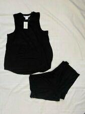 The Company Store Women's Sleepwear Pajamas Medium 2 Piece Black MSRP $76 (CL)