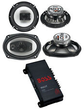 "2) Boss R94 6x9"" 500W 4 Way Car + 2) 6.5"" 300W 3 Way Speakers + 200W 2-Ch Amp"